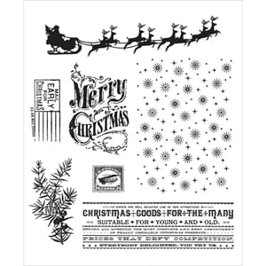 Tim Holz: Christmas Nostalgia - Cling Rubber Stamp Set