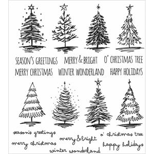 Tim Holtz: Scribbly Christmas Cling Stamps 7x8.5 inch