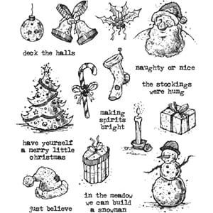 Tim Holtz: Tattered Christmas Cling Stamps
