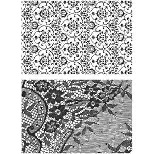 Tim Holtz: Ornate & Lace Cling Stamps, str 7x8.5 inch