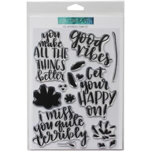 Concord & 9th: Fill-In Phrases Clear Stamps, 6x8 inch