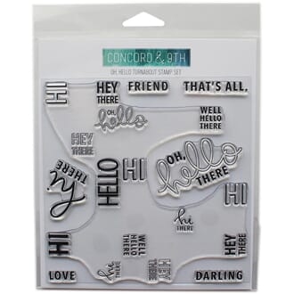 Concord & 9th: Oh, Hello Turnabout Clear Stamps, 6x6 inch