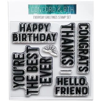 Concord & 9th: Everyday Greetings Clear Stamps, 4x4 inch