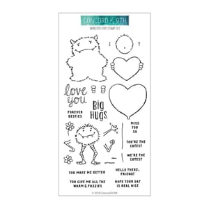 Concord & 9th: Monster Love Clear Stamps 4x8 inch