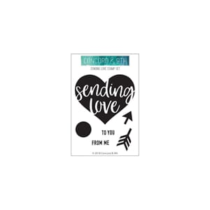 Concord & 9th: Sending Love Clear Stamps, 3x4 inch