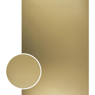 Couture Creations: Gold Matte Mirror Foil Board, A4, 10/Pkg