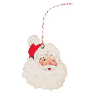 Cheerful Father Christmas Gift Tags