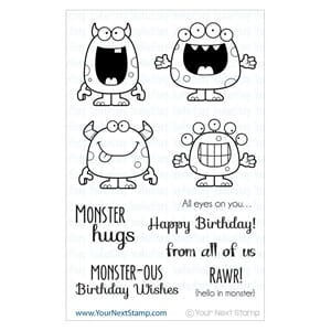 Your Next Stamp - Silly Monsters Clear Stamps