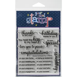 Your Next Stamp: Whatnot Sentiment 4 Clear Stamps