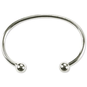 Darice: Nickel Twist End Bangle Bracelet, 2.25 inch