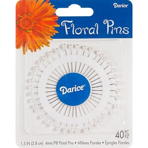 Darice: Pearl White - Corsage Pins, 1.5inch, 40/Pkg