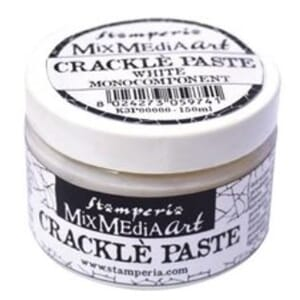 Stamperia: Crackle Paste White Monocomponent, 150 ml