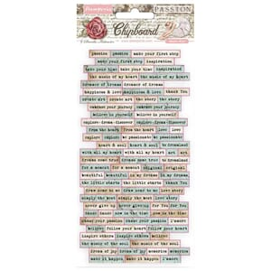 Stamperia: Passion Quotes Chipboard, 86/Pkg