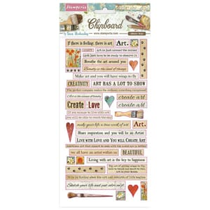 Stamperia: Atelier Quotes Chipboard, 44/Pkg