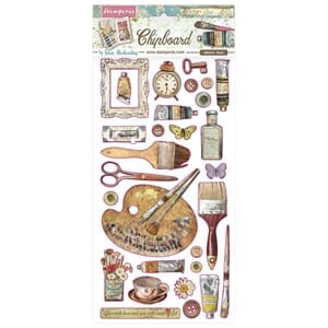 Stamperia: Atelier des Arts Chipboard, 29/Pkg
