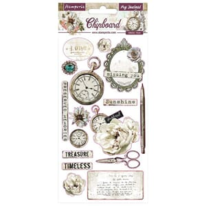 Stamperia: Romantic Journal Chipboard, 16/Pkg