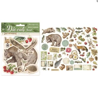 Stamperia: Forest Paper Die-Cuts Pack, 66/Pkg