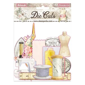 Stamperia: Threads Paper Die-Cuts Pack, 44/Pkg