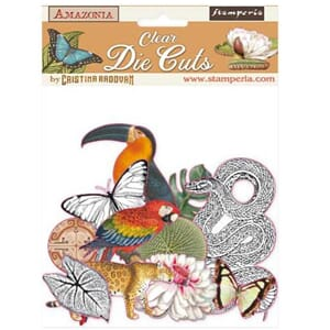 Stamperia: Amazonia Clear Die-Cuts Pack, 48/Pkg