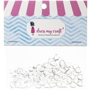 Dress My Craft: Hearts - Water Droplet Embellishments 100/Pk