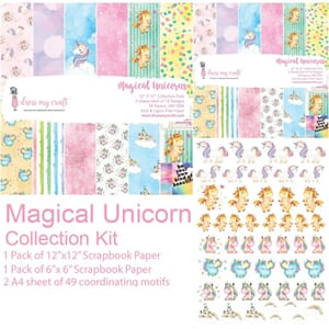 Dress My Crafts: Magical Unicorn Collection Kit, 12x12 inch