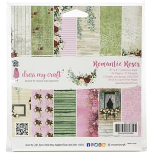 Dress My Crafts: Romantic Roses Paper Pad, 6x6, 24/Pkg