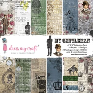 Dress My Crafts: The Gentleman Paper Pad, 6x6, 24/Pkg