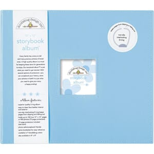 Doodlebug: Bubble Blue - D-Ring Album, 12x12 inch