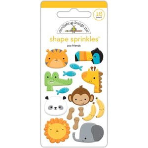 Doodlebug: At The Zoo Friends Enamel Embellishments