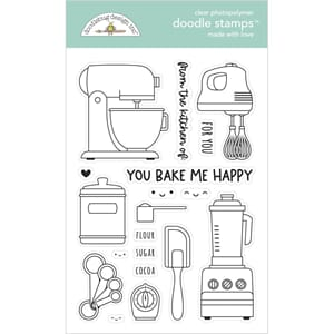 Doodlebug: Made With Love Clear Doodle Stamps, 4x6 inch