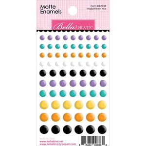 Bella Blvd: Halloween Mix Adhesive Matte Enamel Dots