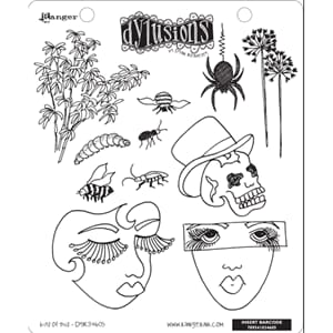 Dylusions: Cling Rubberstamp set - Bits Of This