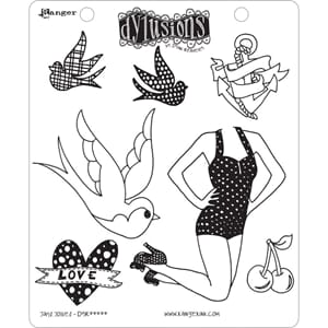 Dylusions: Jays Jollies - Cling Rubberstamp set