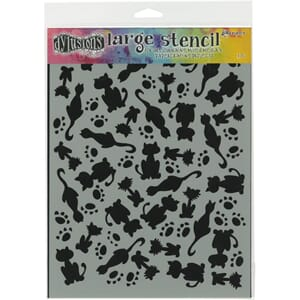 Dylusions: Stencils - It's Raining Cats, 9x12 inch