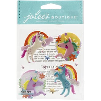 Jolees Boutique: Unicorns Themed Embellishments 9/Pkg