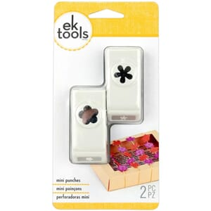 EK Success: Flower & Retro Flower - Mini Punches 2/Pkg