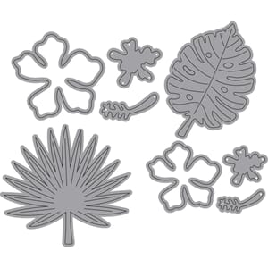 Elizabeth Craft: Tropical Florals Metal Die, 8/Pkg