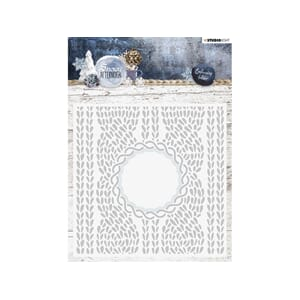 Studio Light: Embossing Folder Die Cut - Snowy Afternoon 01