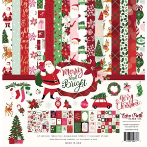 Echo Park: Merry & Bright Collection Kit, 12x12 inch