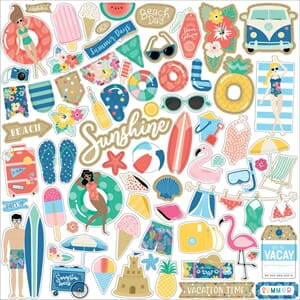 Echo Park: Elements Dive Into Summer Cardstock Stickers