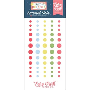 Echo Park: Little Dreamer Girl Adhesive Enamel Dots 60/Pkg