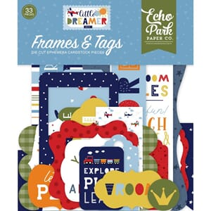 Echo Park: Frames & Tags, Little Dreamer Boy Ephemera, 33/Pk