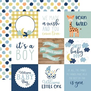 Echo Park: 4x4 Journaling Cards - Baby Boy