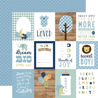 Echo Park: 3x4 Journaling Cards - Baby Boy