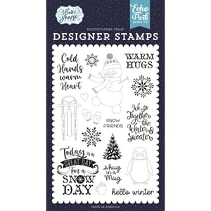 Echo Park: Warm Hugs Clear Stamps, 4x6 inch