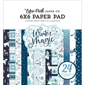 Echo Park: Winter Magic Paper Pad, 6x6 24/Pkg