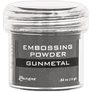Ranger: Gunmetal Metallic - Embossing powder 1oz