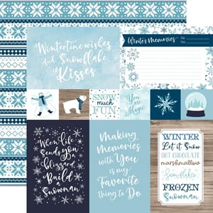 Echo Park Paper: 4x6 Journaling Cards - Winter Magic