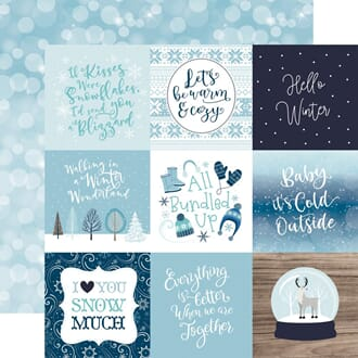 Echo Park Paper: 4x4 Journaling Cards - Winter Magic