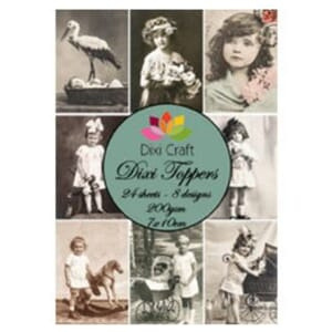 Dixi Craft Dixi Toppers Vintage Photos 2, str 7x10 cm